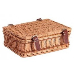 SUITCASE in Natural Wicker and Rope with 2 handles 34 x 27 x 12 cm