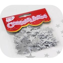 CONFETTIS Silberne Sterne - 10 g Beutel
