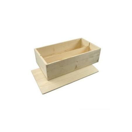 WOODEN BOX for 2 bottles Bordelaise format with lid to nail and board inside