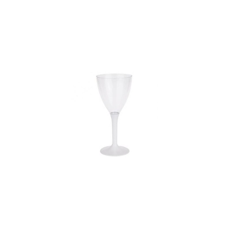 GLASS Wine Bottle Disposable Plastic Crystal White 16 Cl - 10