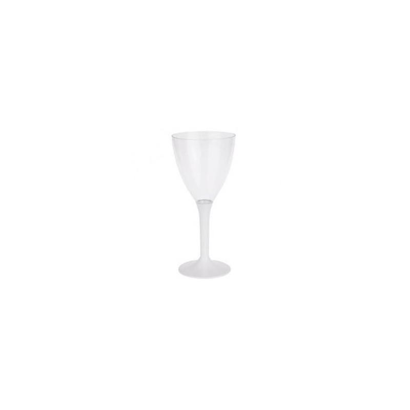 VIDRIO Botella de vino blanco desechable de plástico cristal 16 cl - el 10