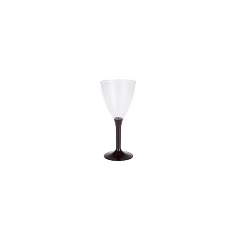GLASS Wine Black plastic disposable crystal 16 cl - the 10