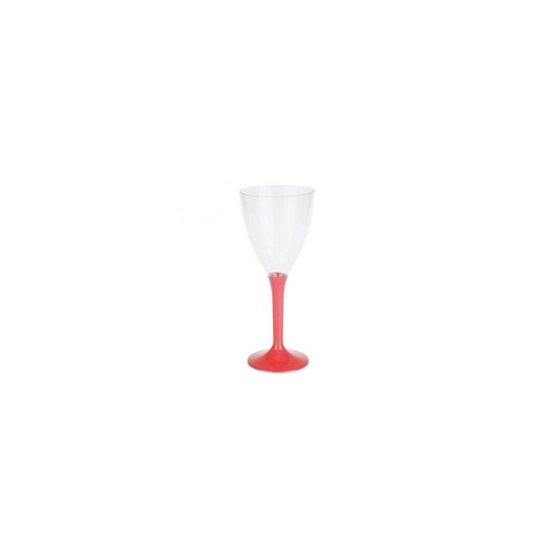 GLASS Wine Red plastic disposable crystal 16cl - the 10