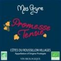 Promesse Tenue Domaine Mas Peyre COTES DU ROUSSILLON Villages Red Wine AOC 75 cl