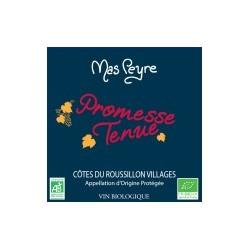 Promesse Tenue Domaine Mas Peyre COTES DU ROUSSILLON Villages Vino Tinto AOC 75 cl orgánico