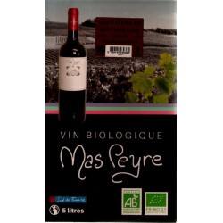 Mas Peyre COTES OF THE ROUSSILLON Red wine PDO Wine fountain BIB 5 L
