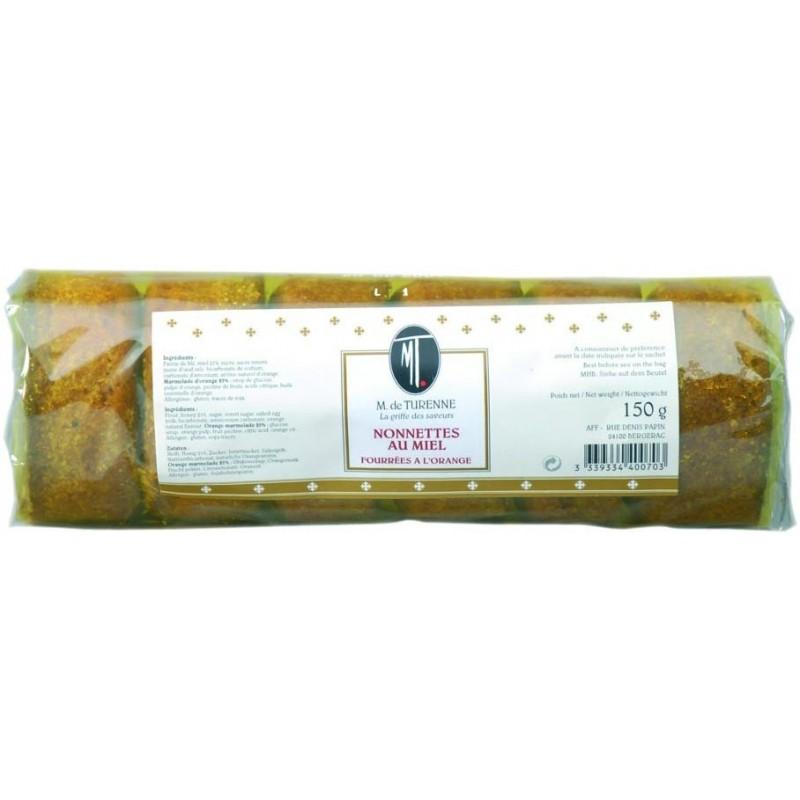 Nonnettes rellenas de miel y naranja M. de TURENNE 150 g