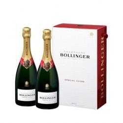Bollinger Twinpack CHAMPAGNE Spezial Cuvée Brut Weißwein Box mit 2 Flaschen 75 cl