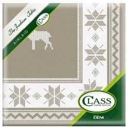 TOALLAS Decor Tyrol Taupe desechable de papel 40 x 40 cm 2 capas de doble punto - la bolsa de 12