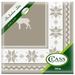 TOWEL Decor Tirol Taupe disposable paper 40 x 40 cm 2 ply double point - the bag of 12
