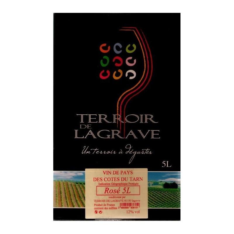 Terroir de Lagrave COTES DU TARN Vin Rosé VDP Fontaine à vin BIB 5 L