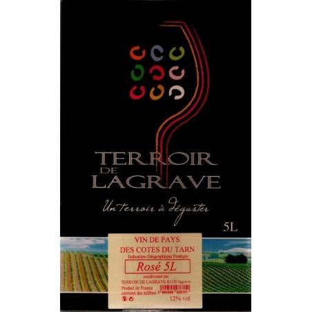 Terroir di Lagrave COTES DEL TARN Vino rosato VDP fontana di vino BIB 5 L