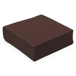 CHOCOLATE TOWEL in disposable paper 38 x 38 cm Sun Ouate plain - the bag of 40
