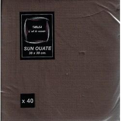 SCHOKOLADENTUCH in Einwegpapier 38 x 38 cm Sun Ouate schlicht - der Beutel von 40