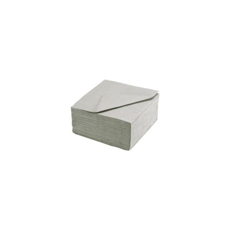 SERVIETTE GRIS ARGENT en papier jetable 38 x 38 cm Sun Ouate unie - le sachet de 40