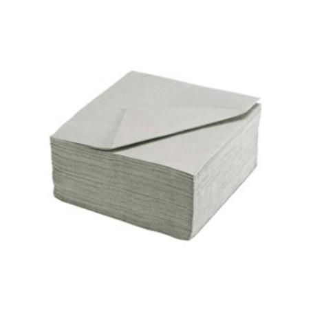 TOALLA GRIS PLATA en papel desechable 38 x 38 cm Sol Ouat llanura - la bolsa de 40