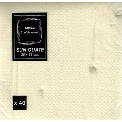 IVORY TOWEL in disposable paper 38 x 38 cm Sun Ouat plain - the bag of 40