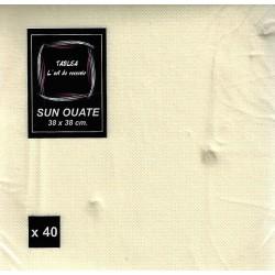 TOALLA DE MARFIL en papel desechable 38 x 38 cm Llanura Sun Ouat - la bolsa de 40