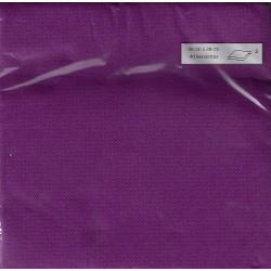 SERVIETTE PRUNE en papier jetable 38 x 38 cm Sun Ouate unie - le sachet de 40