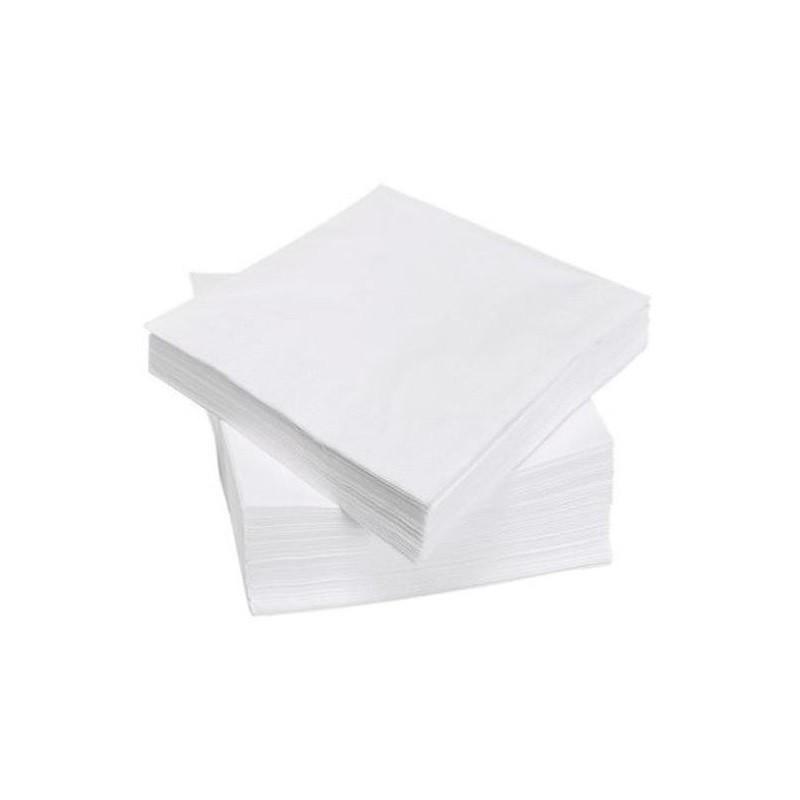 TOALLA BLANCA en papel desechable 38 x 38 cm 2 capas - la bolsa de 100