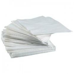 SERVIETTE BLANCHE en papier jetable 30 x 30 cm 2 épaisseurs - le sachet de 100