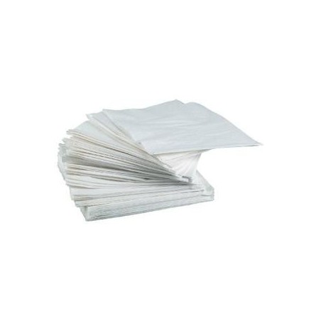 WHITE TOWEL in disposable paper 30 x 30 cm 2-ply - the bag of 100