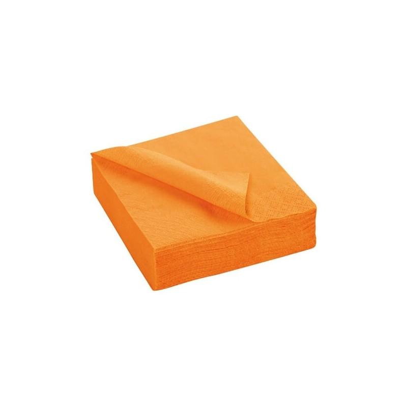MANDARINE TOWEL disposable paper 38 x 38 cm 2-ply - the bag of 50