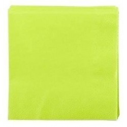 ANIS GREEN TOWEL in disposable paper 38 x 38 cm 2-ply - the bag of 50