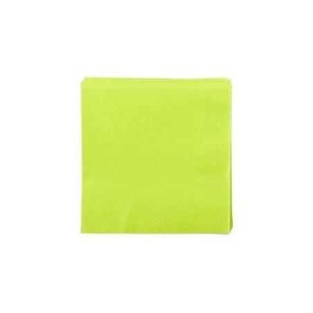 SERVIETTE VERT ANIS en papier jetable 38 x 38 cm 2 épaisseurs - le sachet de 50