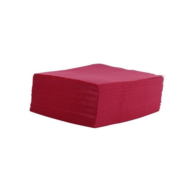Toalla BORDEAUX vaso de cóctel de papel desechable micro-punto 2 capas / espesor 20x20 cm - el 100