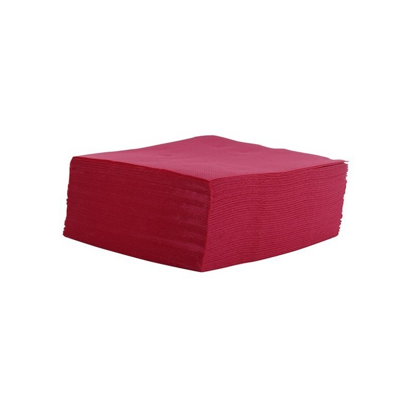 Towel BORDEAUX Disposable paper cocktail cup micro-point 2 ply / thickness 20x20 cm - the 100