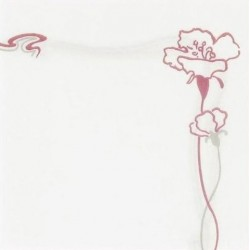 "WHITE TOWEL in disposable paper 40 x 40 cm non-woven with border ""Ibiscus"" bordeaux - the bag of 50"
