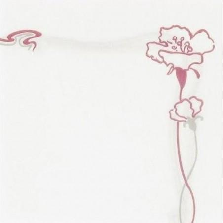 """TUCH Weiß Einweg-Papier 40 x 40 cm Vlies mit kochend """"Ibiscus"""" bordeaux - die Tasche 50"""