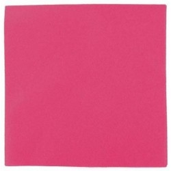 SERVIETTE cocktail FUCHSIA en papier jetable 20 x 20 cm 2 épaisseurs double point- le sachet de 100