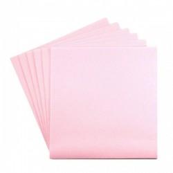 TOALLA ROSA PASTEL en papel desechable 40 x 40 cm no tejido - la bolsa de 50