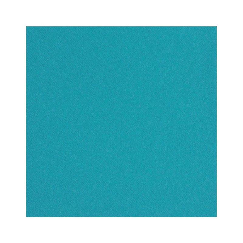 SERVIETTE TURQUOISE en papier jetable 40 x 40 cm non-tissé - le sachet de 50