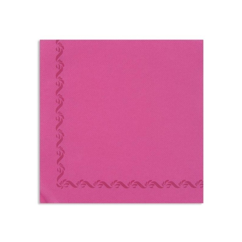 PINK TOWEL FUCHSIA with disposable paper edge Sun Wool 38x38 - pack of 50