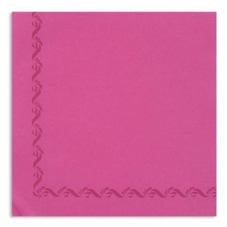 TOALLA ROSA FUCSIA con borde de papel desechable Sun Wool 38x38 - paquete de 50