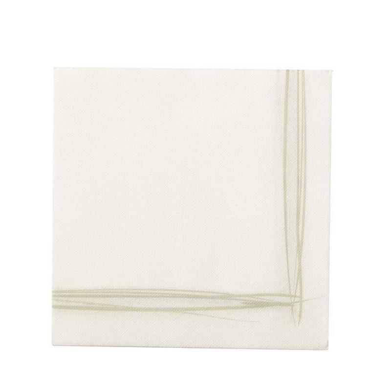 TOALLA BLANCA con borde de papel desechable Sun Wool 38x38 - la bolsa de 40