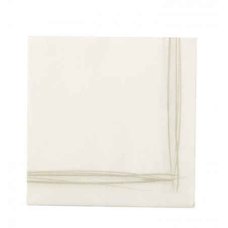 WHITE TOWEL with disposable paper pad Sun Ouate 38x38 - the bag of 40