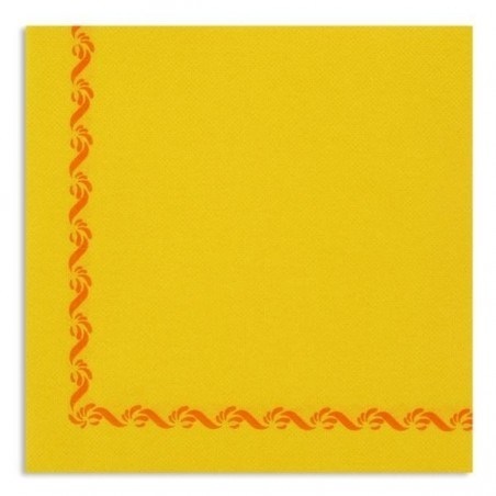 YELLOW TOWEL with disposable paper pad Sun Ouate 38x38 - the bag of 40