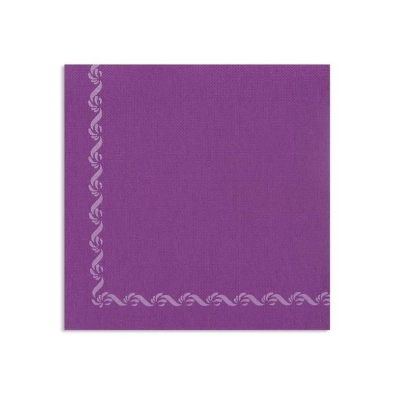 TOALLA CIRUELA con borde de papel desechable Sun Ouate 38x38 - la bolsa de 40