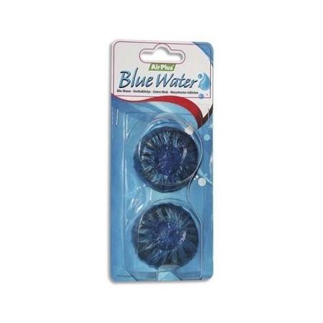 """BLOC CHASSE D'EAU """"Air Plus"""" hydro-soluble -Eau bleue- sachet de 2"""