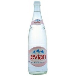 WATER EVIAN - 12 bottles of 1 L in returnable glass (deposit of 4.20 € included in the price)