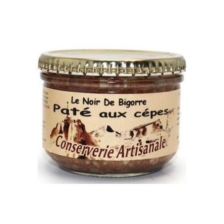 Schwarze Schweinepastete mit Cepes Terroir des Pyrénées - 180 g Glas