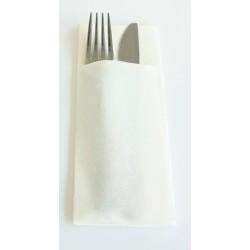 TOVAGLIOLO Tasca BIANCA 40 x 32 cm aperta 8 x 20 cm piegata Traccia asciutta Non tessuta - la borsa da 50