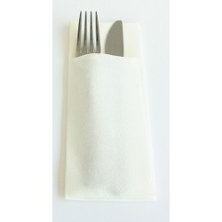 TOWEL Pocket WHITE 40 x 32 cm open 8 x 20 cm folded Dry track Non woven - the bag of 50