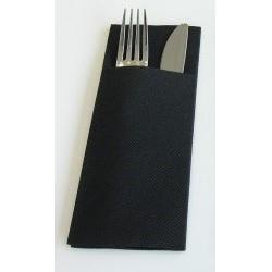 TOALLA bolsillo NEGRO 40 x 32 cm abierto 8 x 20 cm plegado vía seca No tejido - la bolsa de 50