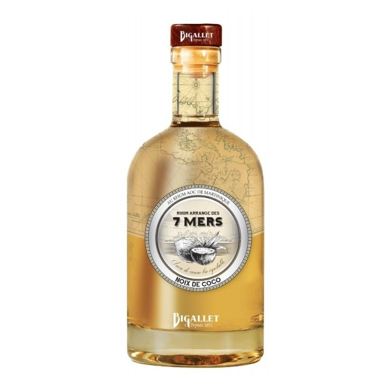 Arranged rum COCONUT of 7 Seas Bigallet 25 ° 70 cl