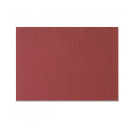 Bordeaux table set in embossed disposable paper 30x40 cm - the 1000